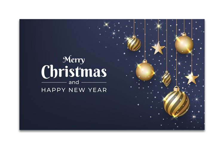Christmas background design with glitter ornament example image 1