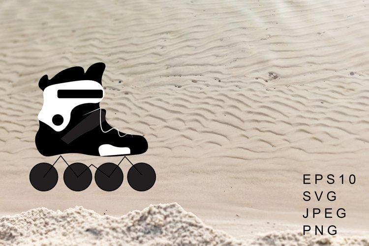 Roller Skates Vector Illustration. Roller Skates Sublimation example image 1