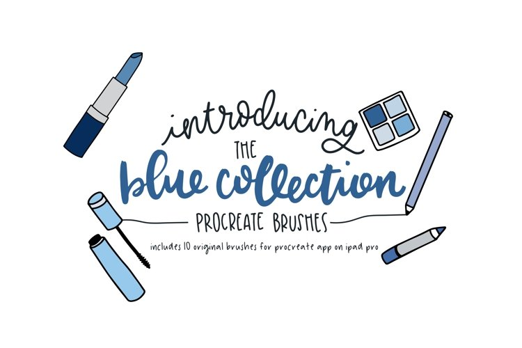 The Blue Collection - Procreate Brushes example image 1