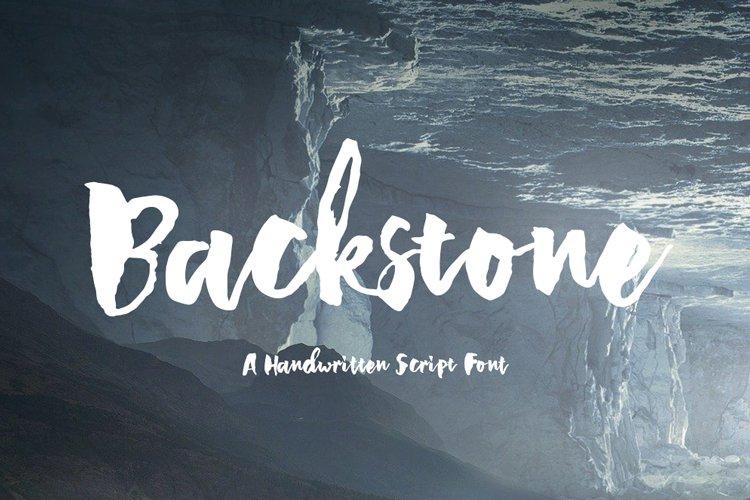 Backstone - A Handwritten Script Font