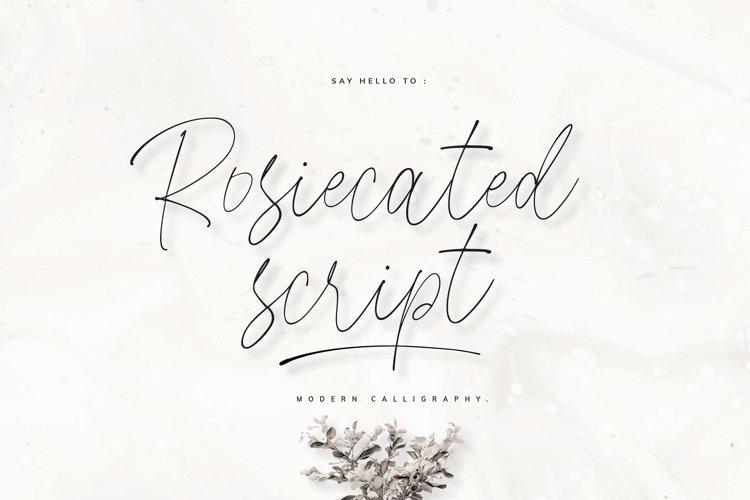Rosiecated Script! example image 1
