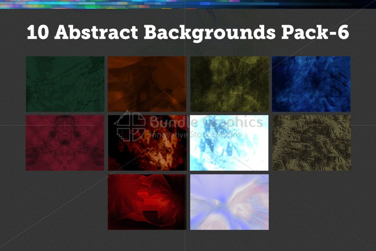 10 Abstract Backgrounds – Pack-6 example image 1