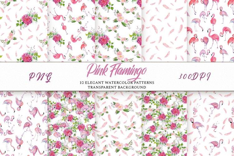 Pink Flamingo Seamless Patterns example image 1