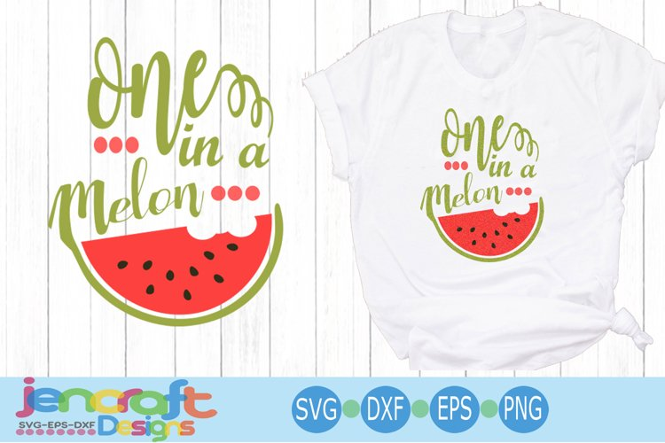 One in a Melon Summer shirt design svg Watermelon svg