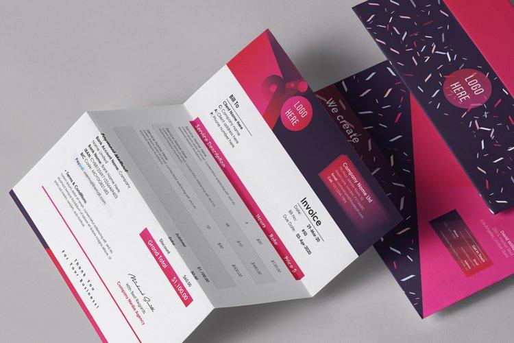 Modern Editable Invoice Template Design example image 1
