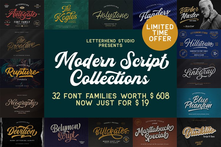 Modern Script Collections example image 1