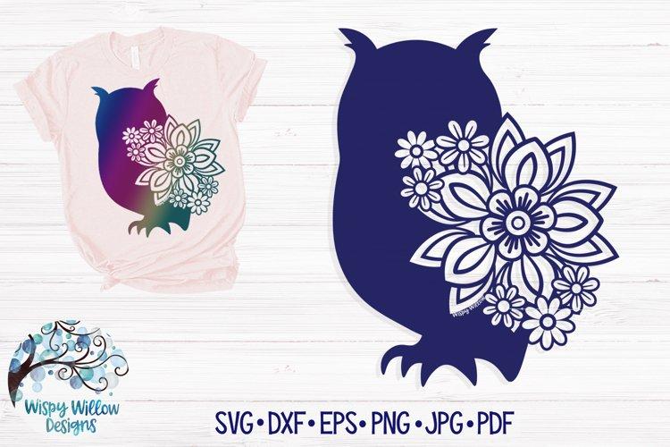 Floral Owl SVG Cut File