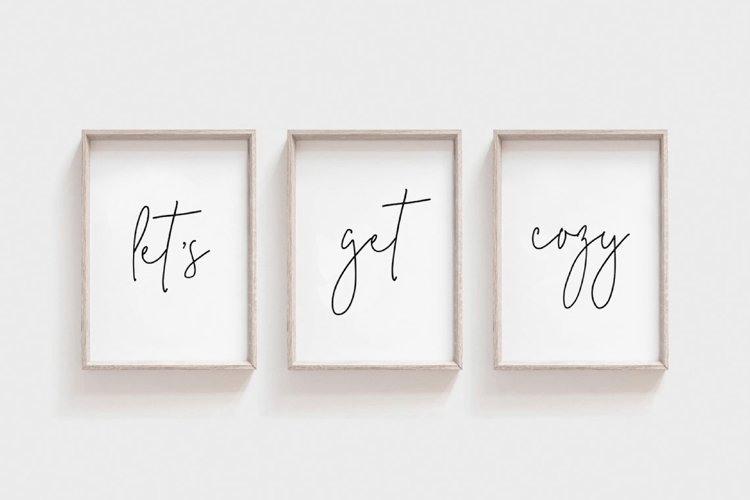 Lets Get Cozy Printable, Living Room Wall Art, Lets Get Cozy example image 1