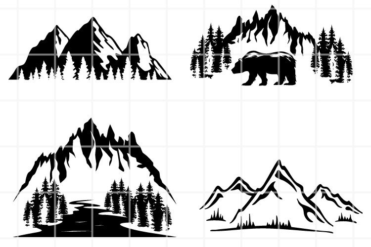 Mountains SVG. Travel Bundle cut files. Hike cutting files. example image 1