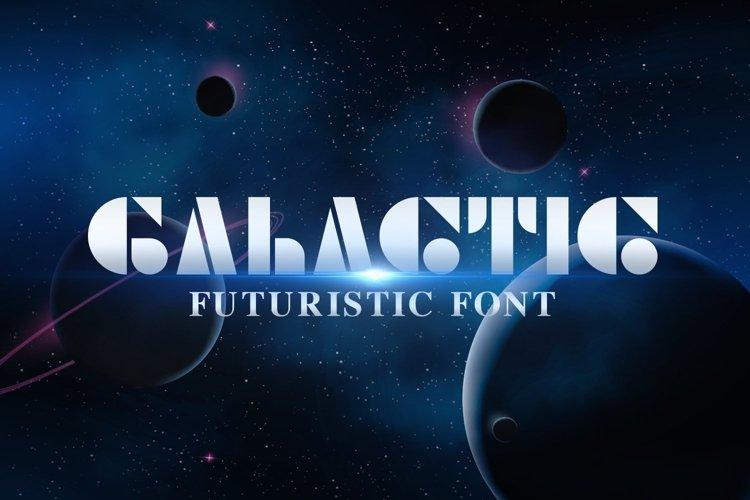 Web Font Galactic example image 1