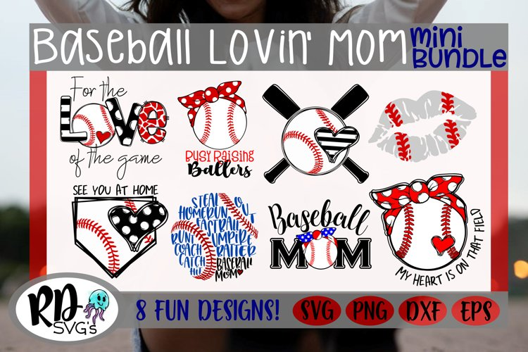 Baseball Loving Mom - A Mothers Day Mini Bundle of Cut FIles example image 1