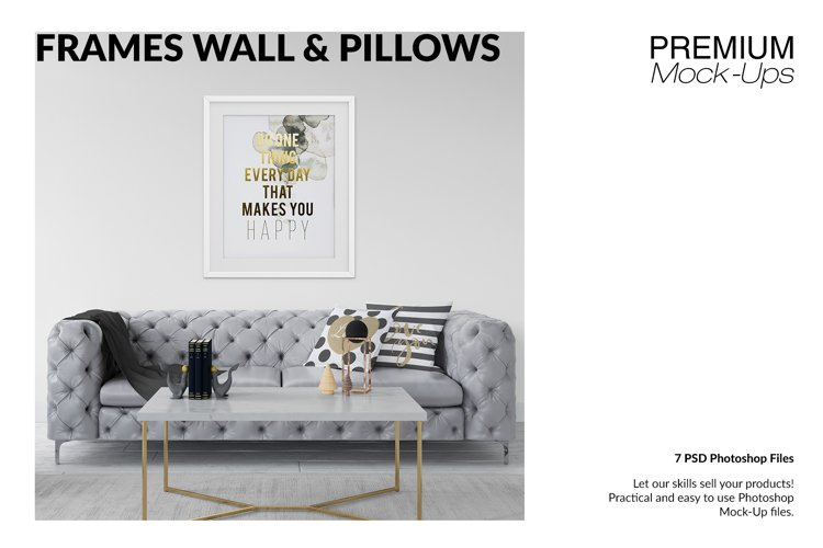 Frames Wall and Pillows Set - Glam Style example image 1