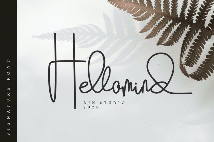 Hellomind-Beautiful Signature Font example image 1