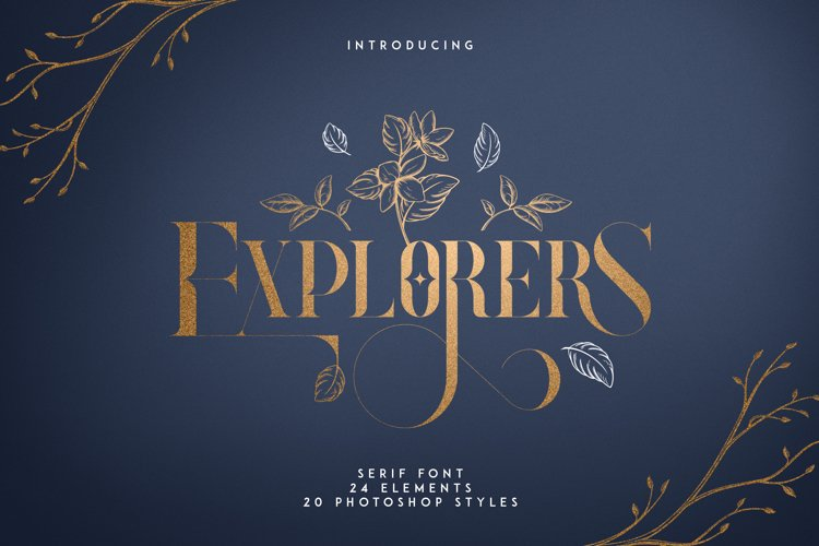 Explorers - Serif font Extras example image 1