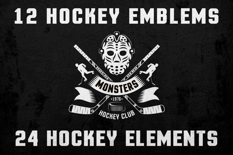 Hockey Logo on Dark