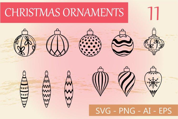 Christmas ornament cut files, Christmas SVG example image 1
