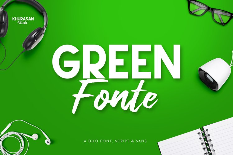 Green Fonte Font Duo example image 1