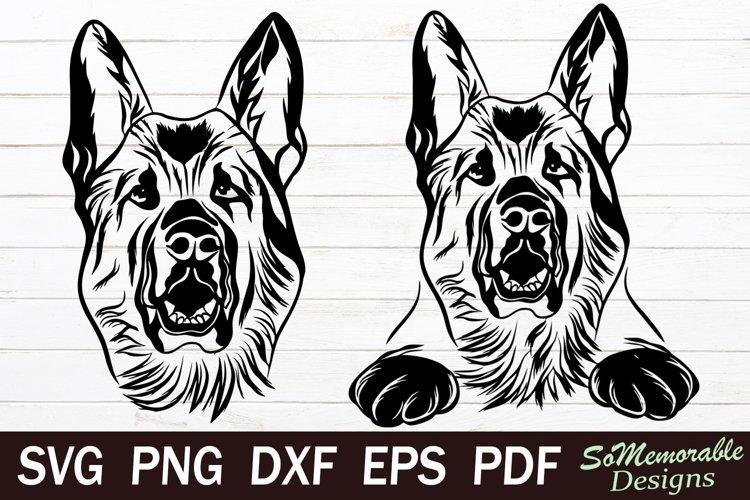 German shepherd SVG cut file, German shepherd svg design