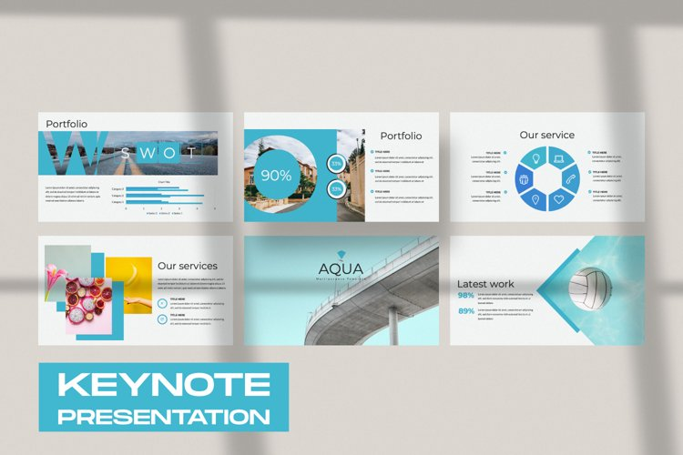 Aqua Business Keynote example image 1
