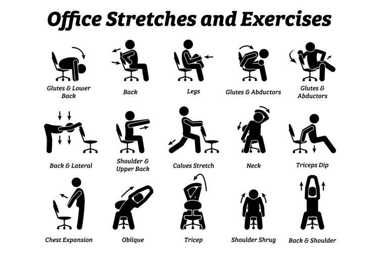 Office Stretches and Exercises Relieve Muscle Pain Tension