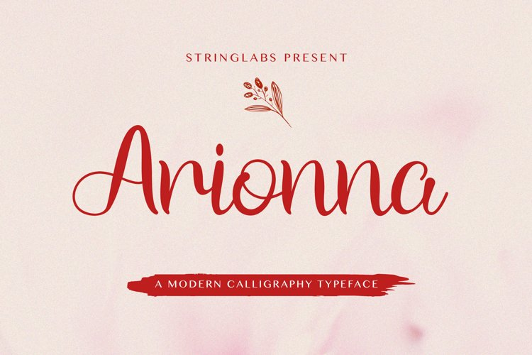 Arionna - Modern Calligraphy Font example image 1