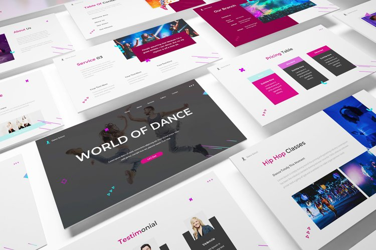 Dance Google Slides Template example image 1