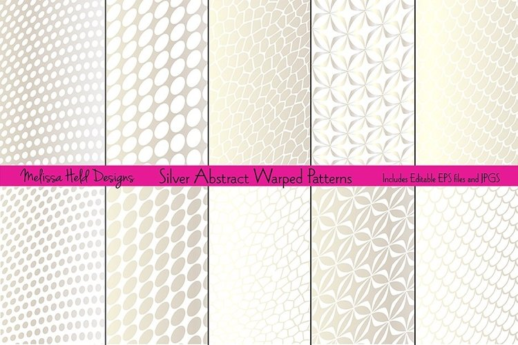 Silver Abstract Warped Patterns example image 1