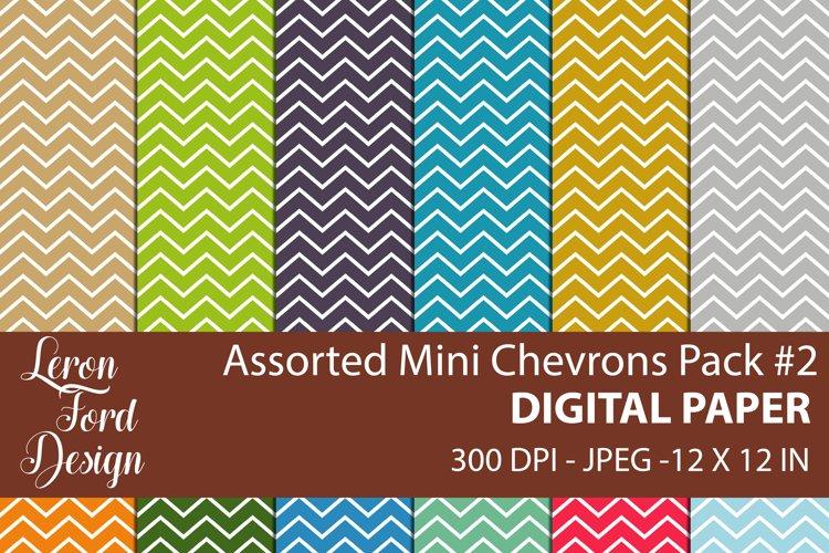 Assorted Mini Chevrons Pack #2 Digital Paper example image 1