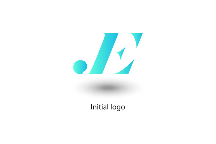 initial letter j e , vector design example image 1