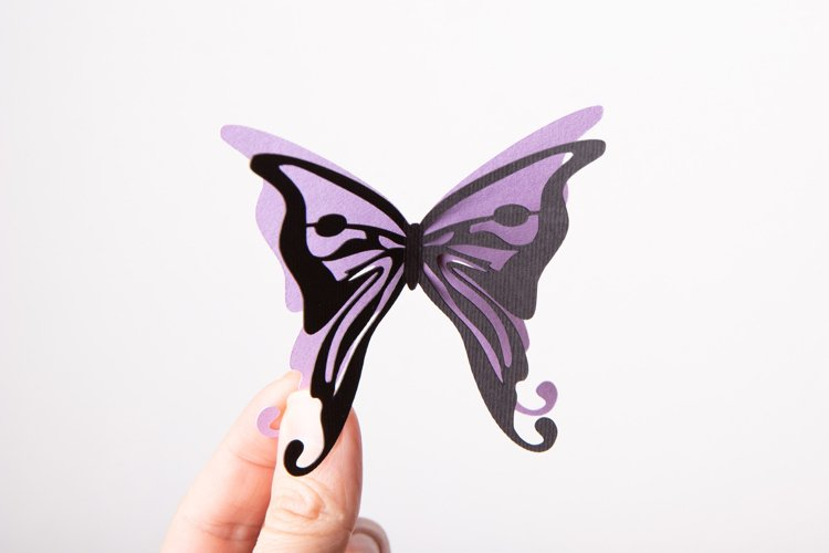 Butterfly Paper Cut SVG | Layered Butterfly SVG example 1