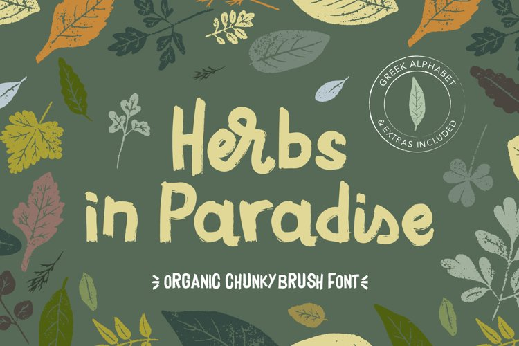 Herbs in Paradise brush font example image 1