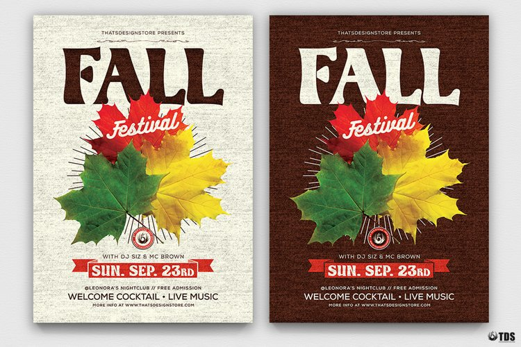 Fall Festival Flyer Template example image 1