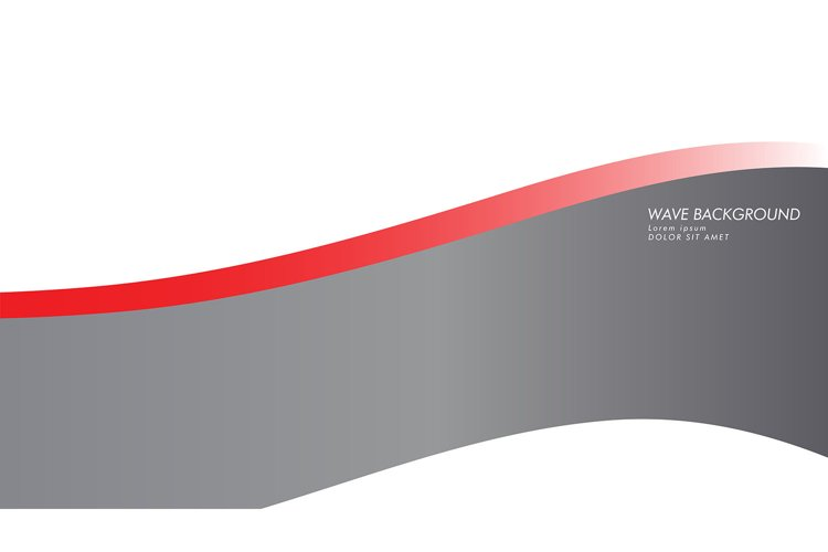 wave background with gray red color example image 1