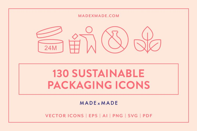 Sustainable Packaging Line Icons