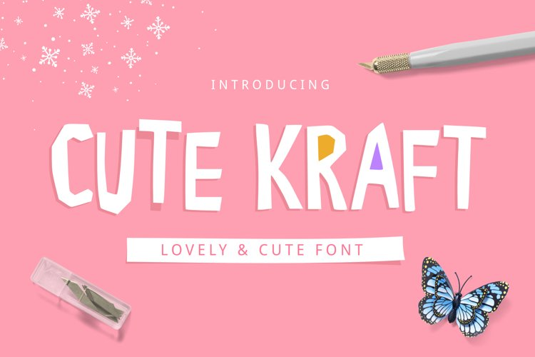 Cute Kraft Fonts example image 1