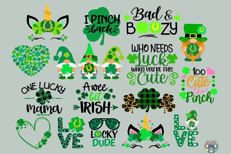 St Patrick's Day svg, Bundle svg, Clover svg, Cricut Files example image 1