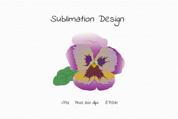 Lilac Floral Pansy - Sublimation Design