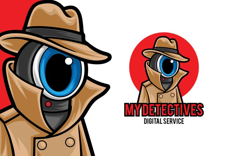 CCTV Security Mascot Logo Template example image 1