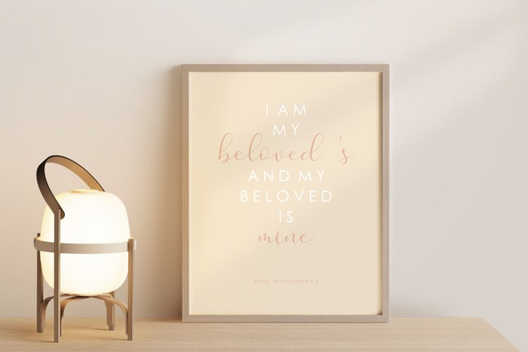 Scripture wall print, Bible verse, Love verse poster example image 1