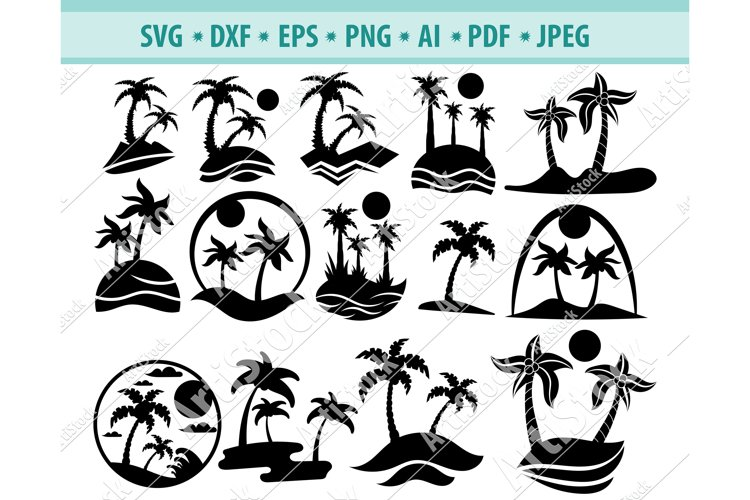 Palm tree svg, Summer svg, Vacation svg, Tree Dxf, Png, Eps
