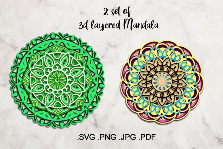 3d Layered Mandala - Multilayered Mandala Cut File