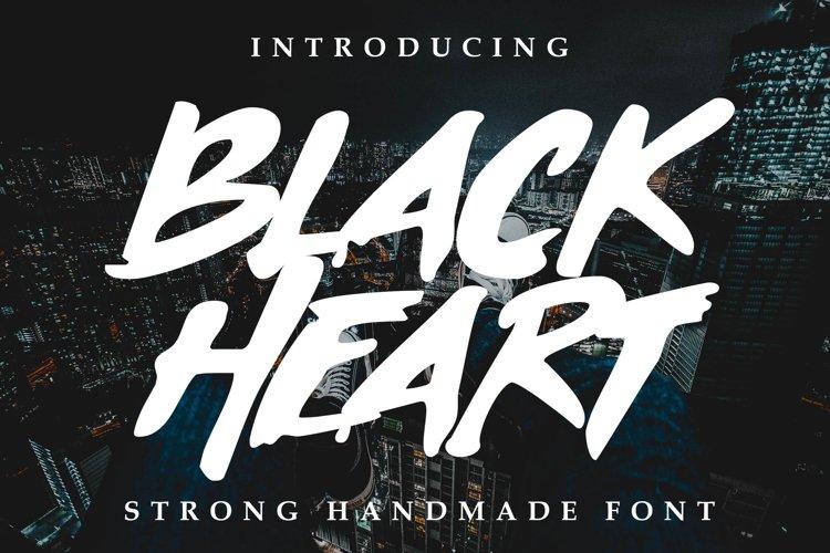 Black Heart Font example image 1