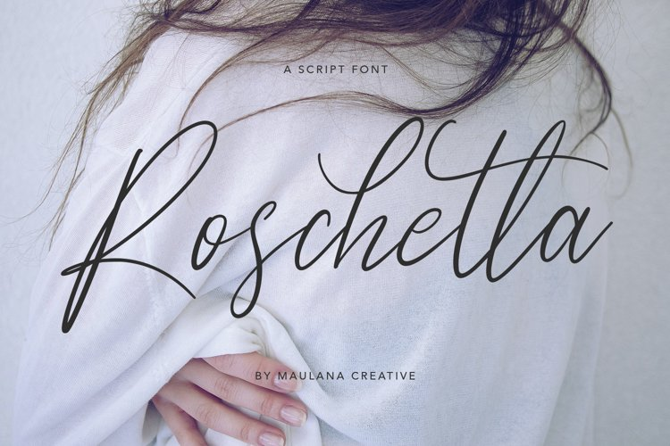 Roschetta Script Handmade Calligraphy Signature example image 1