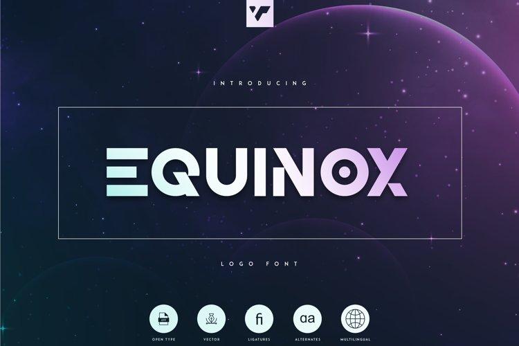 Equinox - Logo Font example image 1