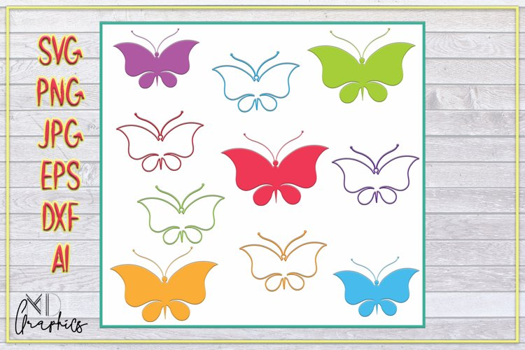 SVG, PNG, AI, JPG, DXF, EPS DIGITAL DOWNLOAD BUTTERFLIES example image 1