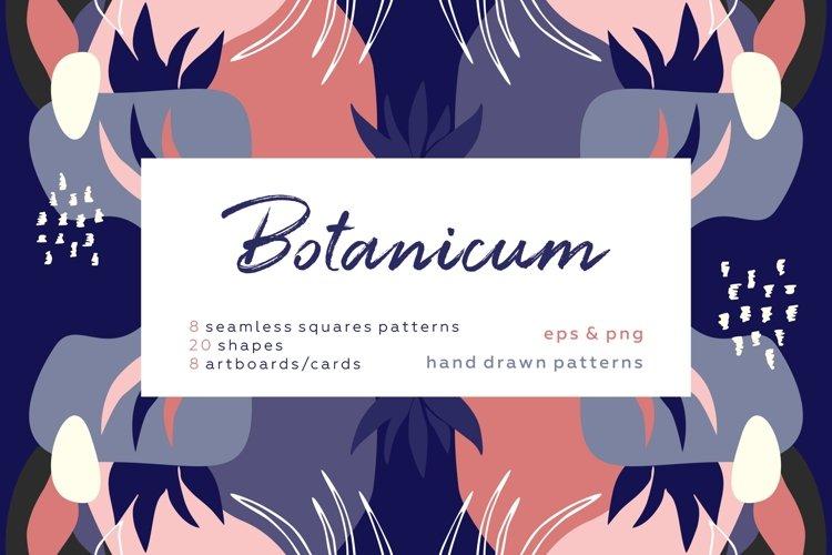 Botanicum. Modern and abstract pattern set.
