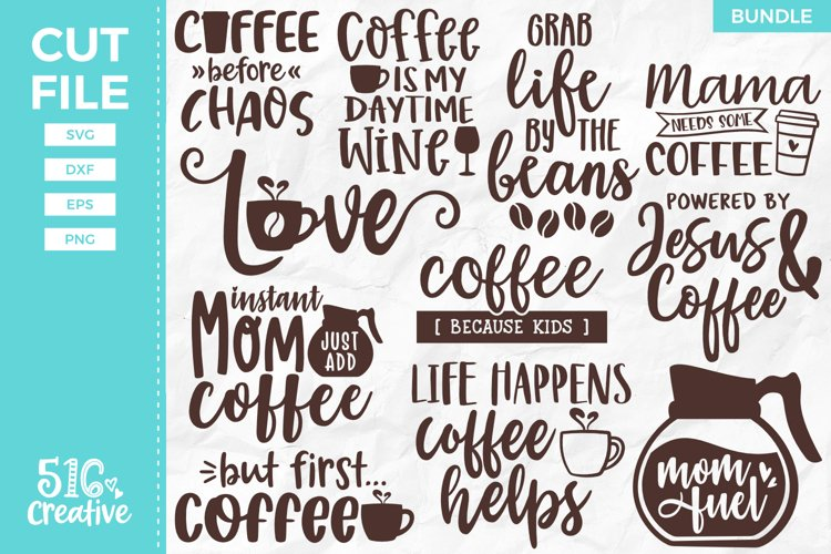 Coffee Lover Bundle 11 Designs SVG DXF EPS PNG example image 1