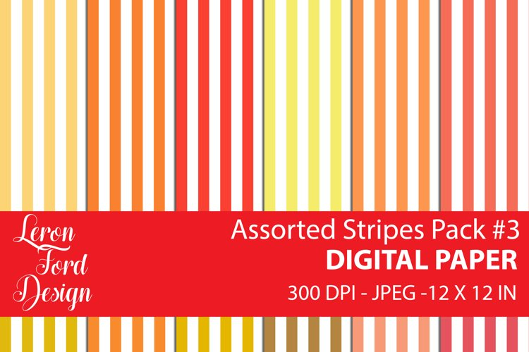 Assorted Stripes Pack #3 Digital Paper example image 1