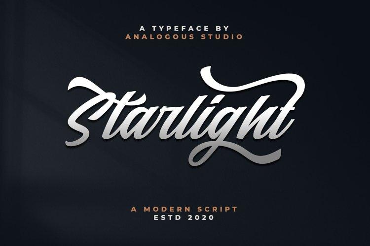 Starlight || Modern Script example image 1