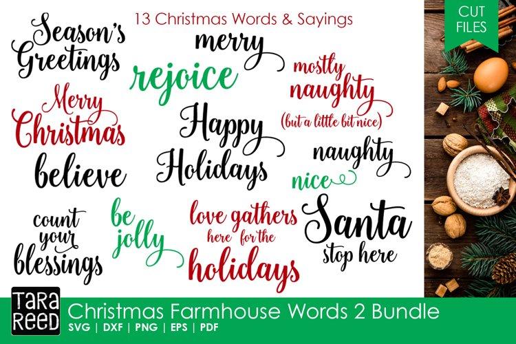 Christmas Farmhouse Words 2 Bundle example image 1